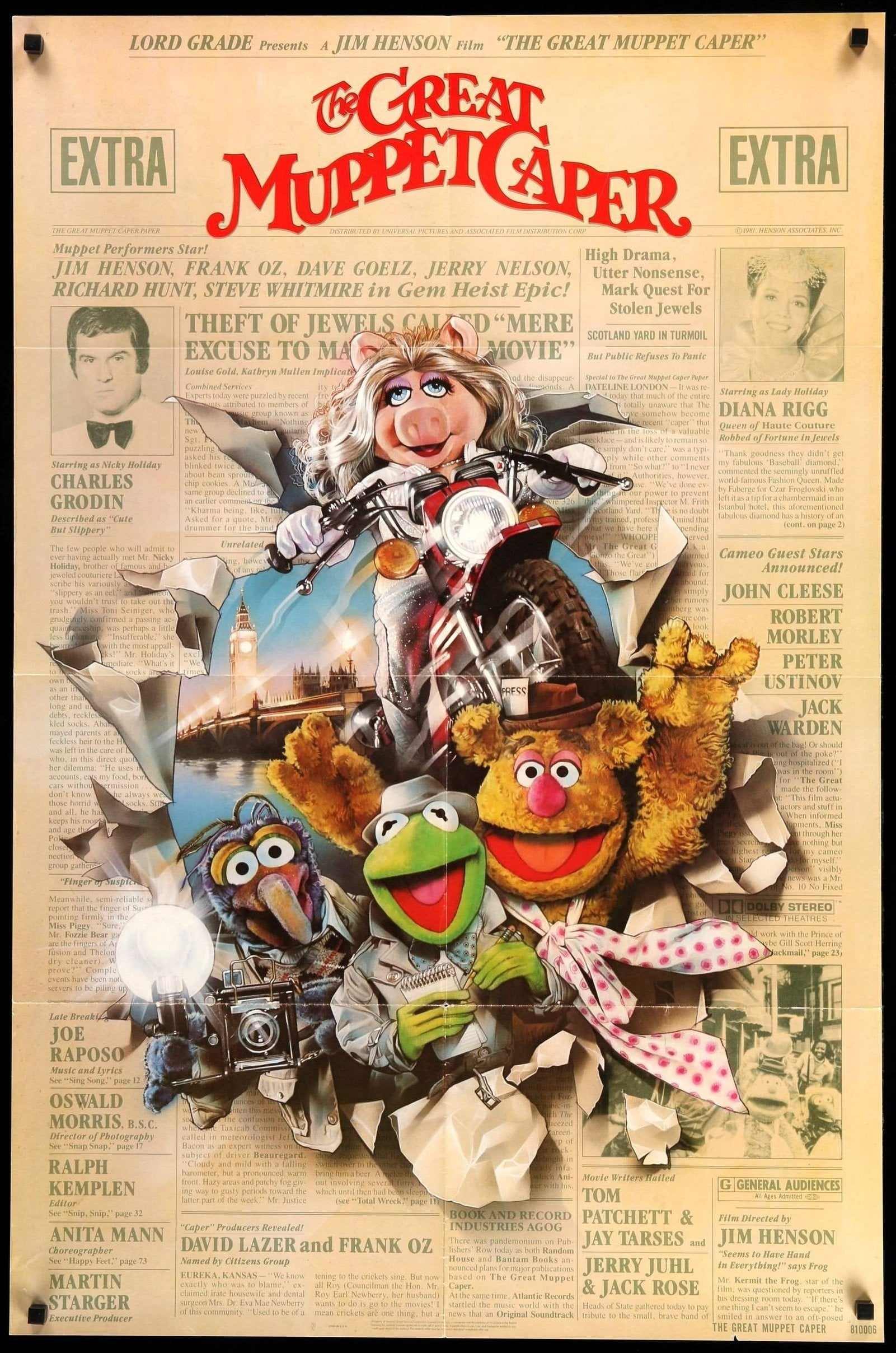 Image result for The Great muppet caper poster