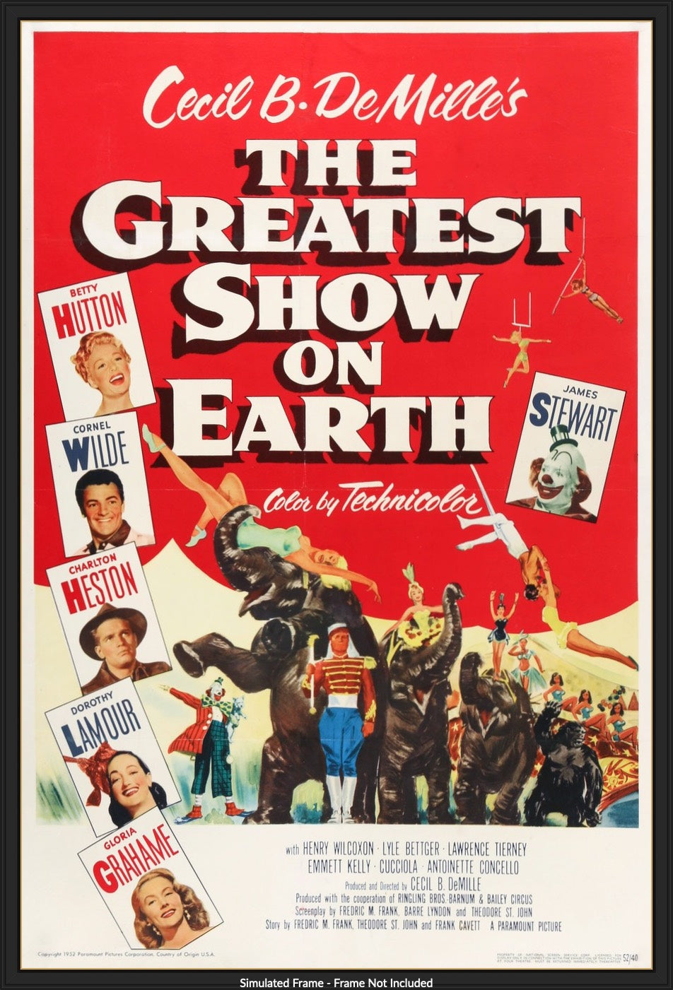 The Greatest Show on Earth (1952) Original One-Sheet Movie Poster -  Original Film Art - Vintage Movie Posters