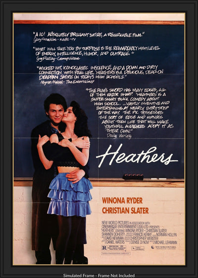 Heathers (1989) Movie Poster - Original Film Art - Vintage Movie Posters