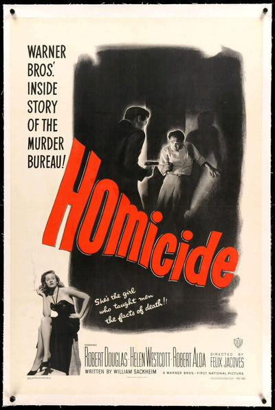 Homicide (1949)-Original Film Art - Vintage Movie Posters