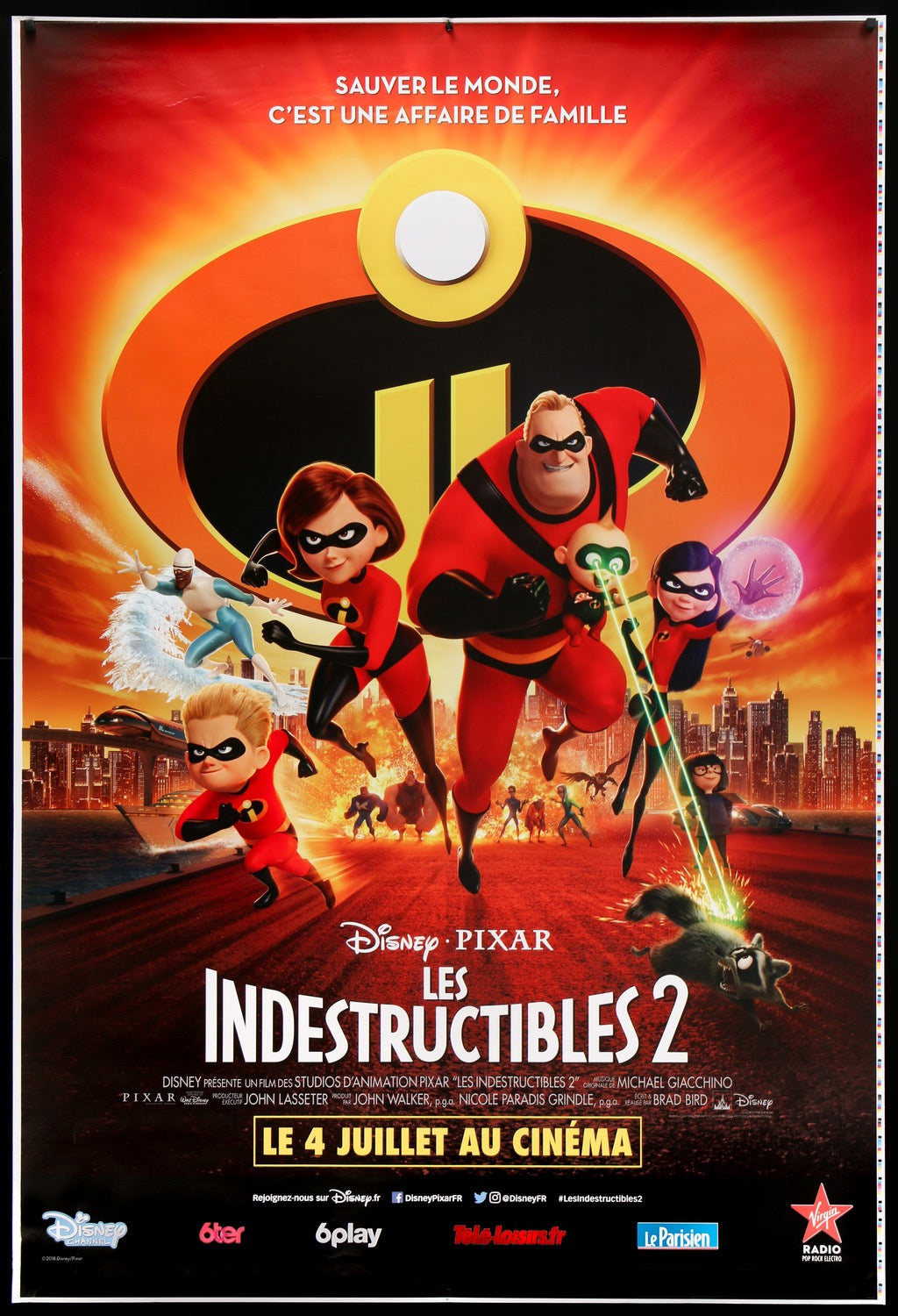 The Incredibles 2 2018 Original French Grande Movie Poster Original Film Art Vintage Movie Posters