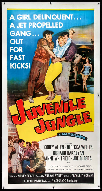 Movie Poster - Juvenile Jungle (1958)  - Original Film Art - Vintage Movie Posters