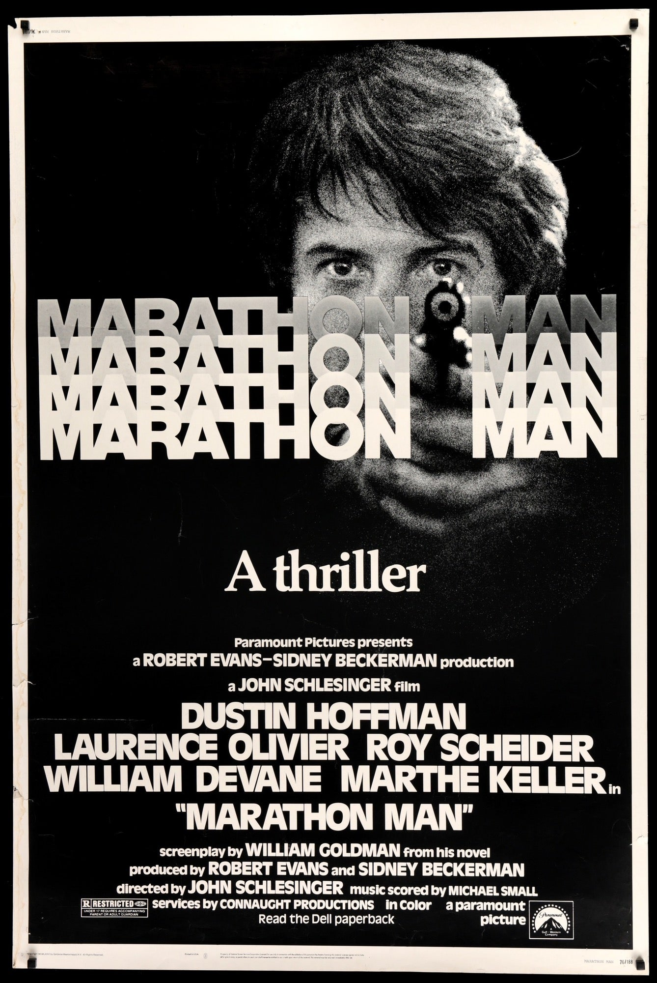 Marathon man 1976 original forty by sixty movie poster original marathon man 1976 original film art vintage movie posters thecheapjerseys Images