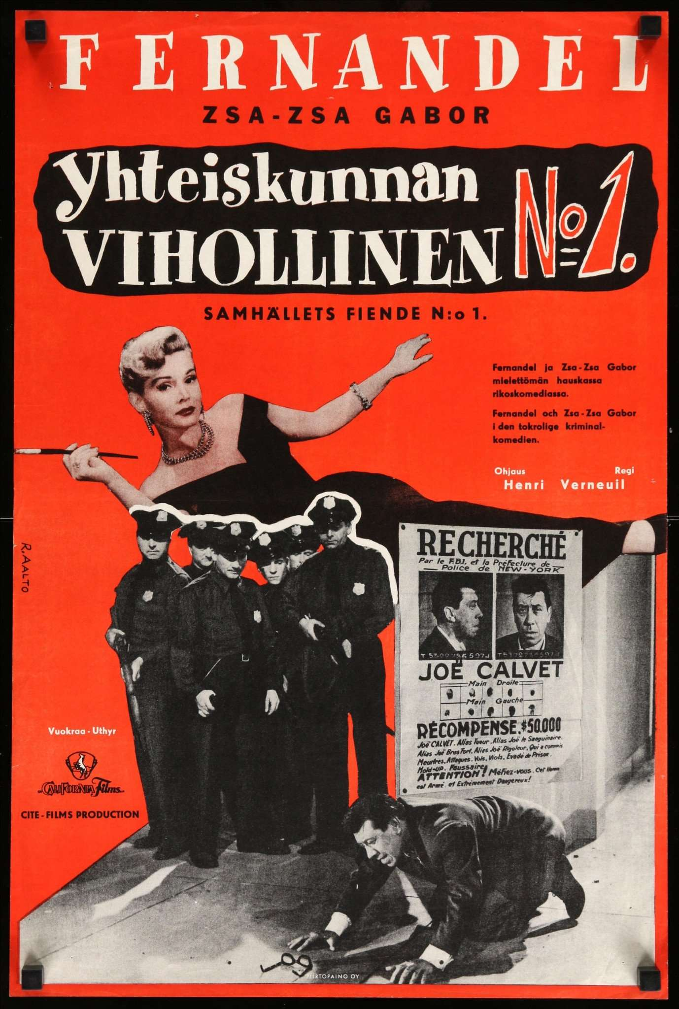 The Most Wanted Man 1953 Original Finnish Movie Poster Original Film Art Vintage Movie Posters