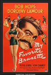 Movie Poster - My Favorite Brunette (1947)  - Original Film Art - Vintage Movie Posters