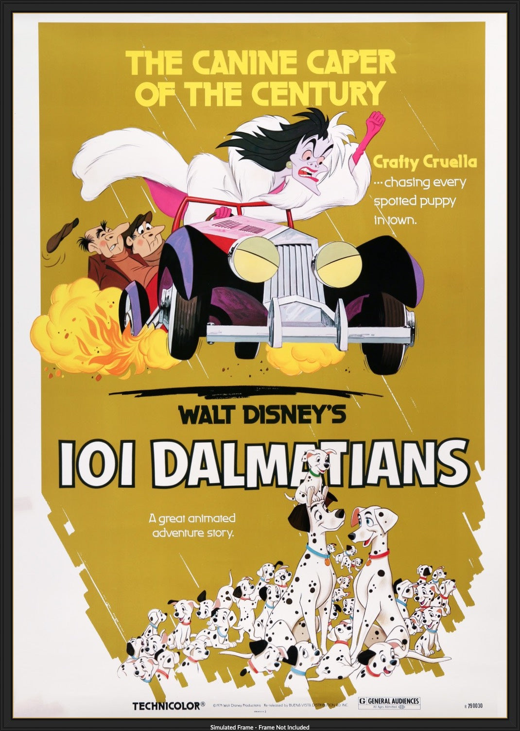 101 Dalmatians 1961 Original R79 Thirty By Forty Movie Poster Original Film Art Vintage Movie Posters