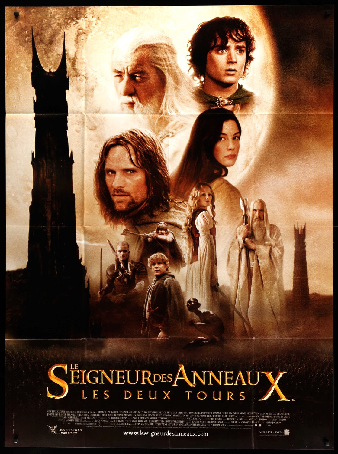 The Lord Of The Rings The Two Towers 2002 French Movie Poster Original Film Art Vintage Movie Posters