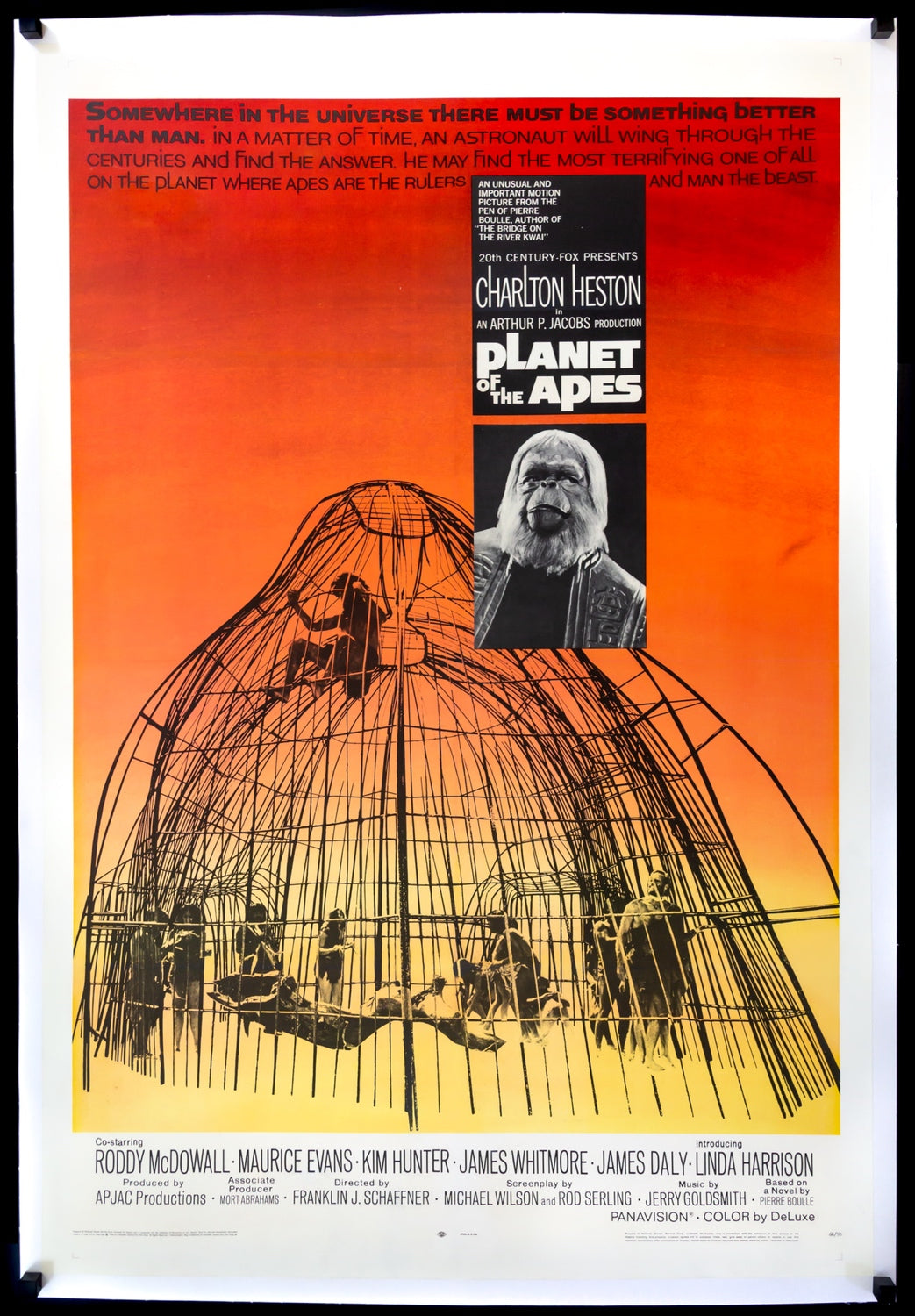 PLANET OF THE APES Movie Poster RARE European Version