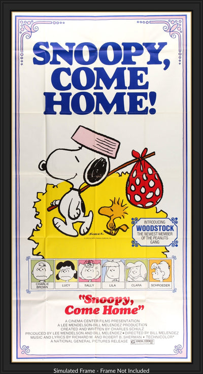 Movie Poster - Snoopy Come Home (1972)  - Original Film Art - Vintage Movie Posters