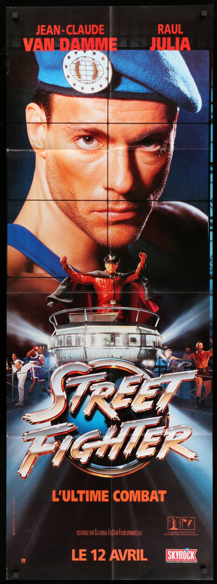 Street Fighter 1994 Original French Movie Poster Original Film Art Vintage Movie Posters