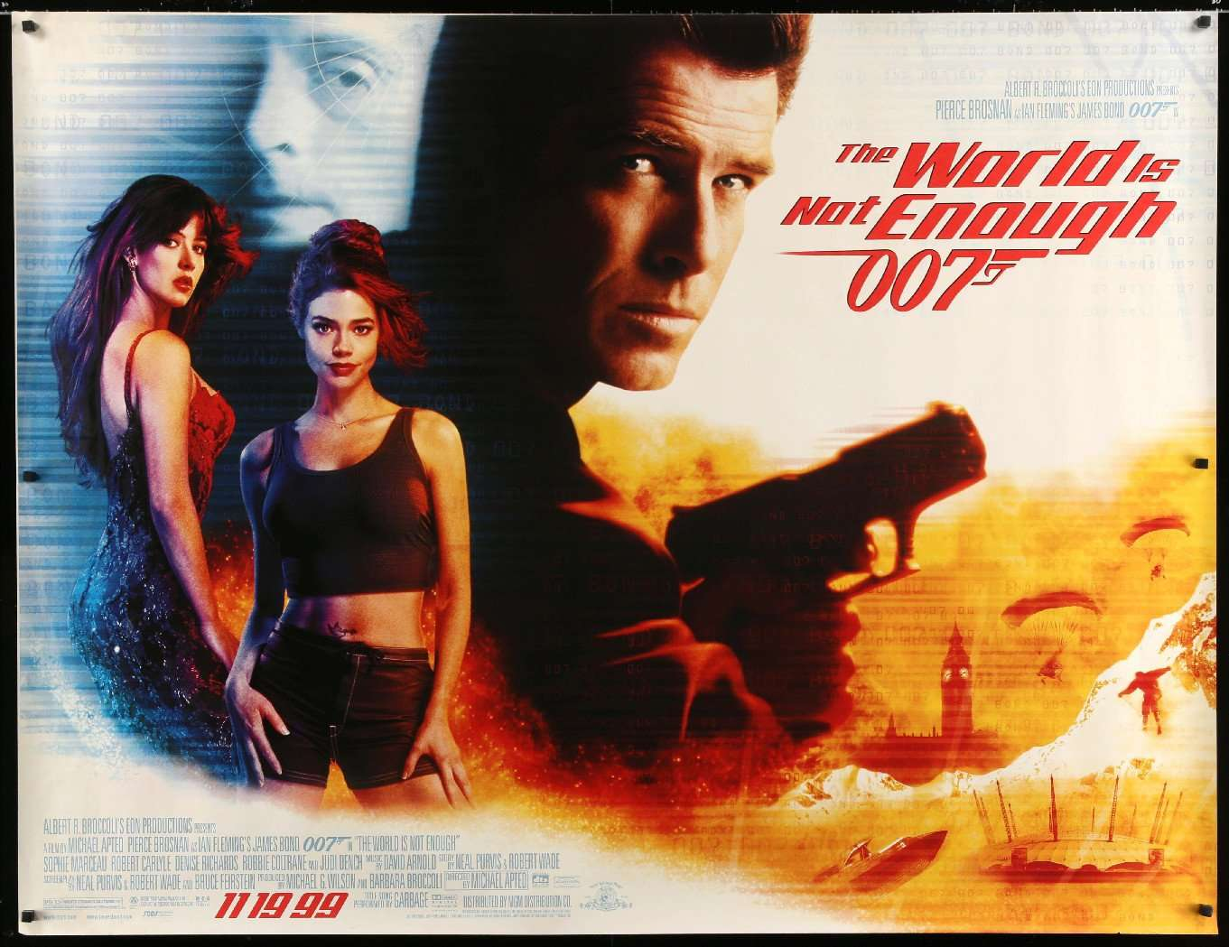 """The World Is Not Enough (1999) Original Subway Movie Poster -46"""" x ..."""