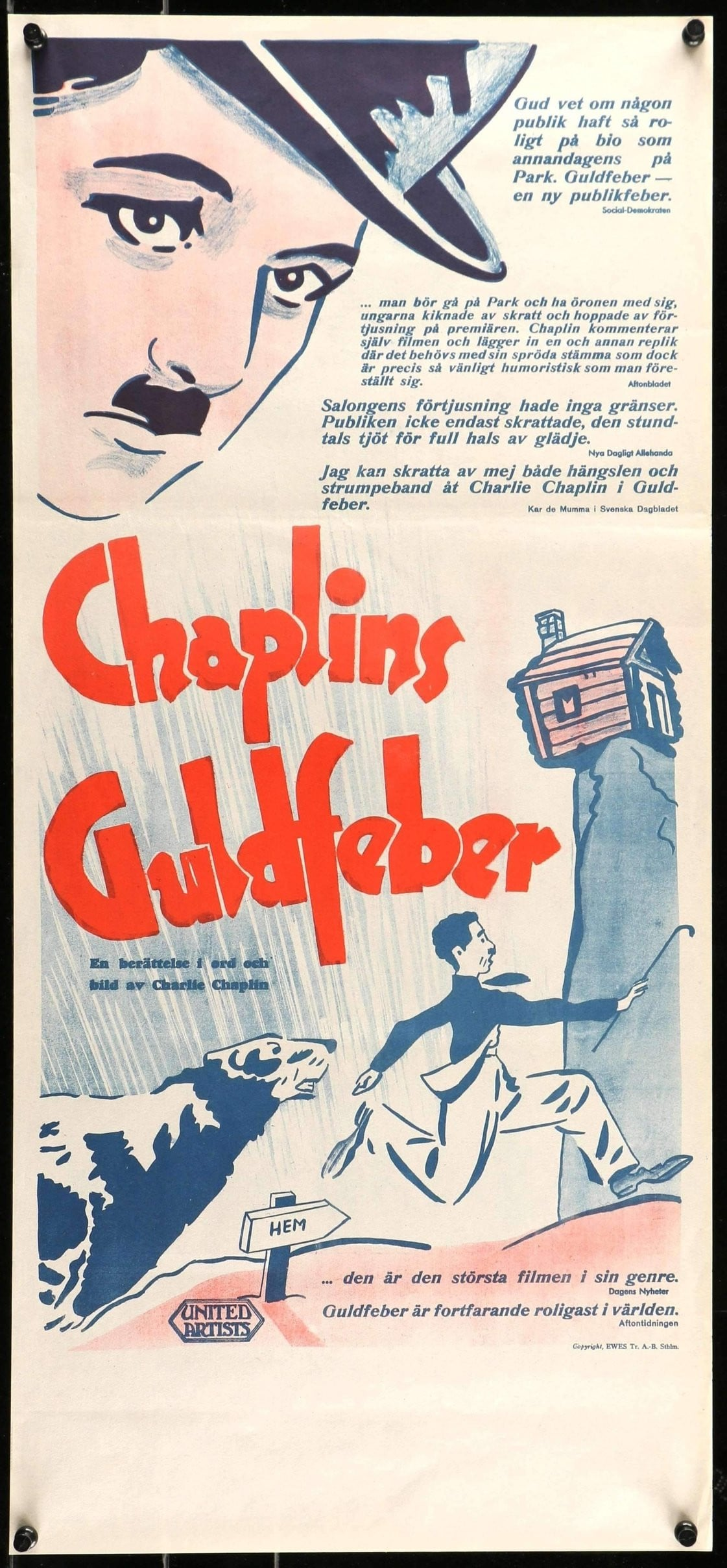 Charlie Chaplin movie poster print 4 1925 The Gold Rush