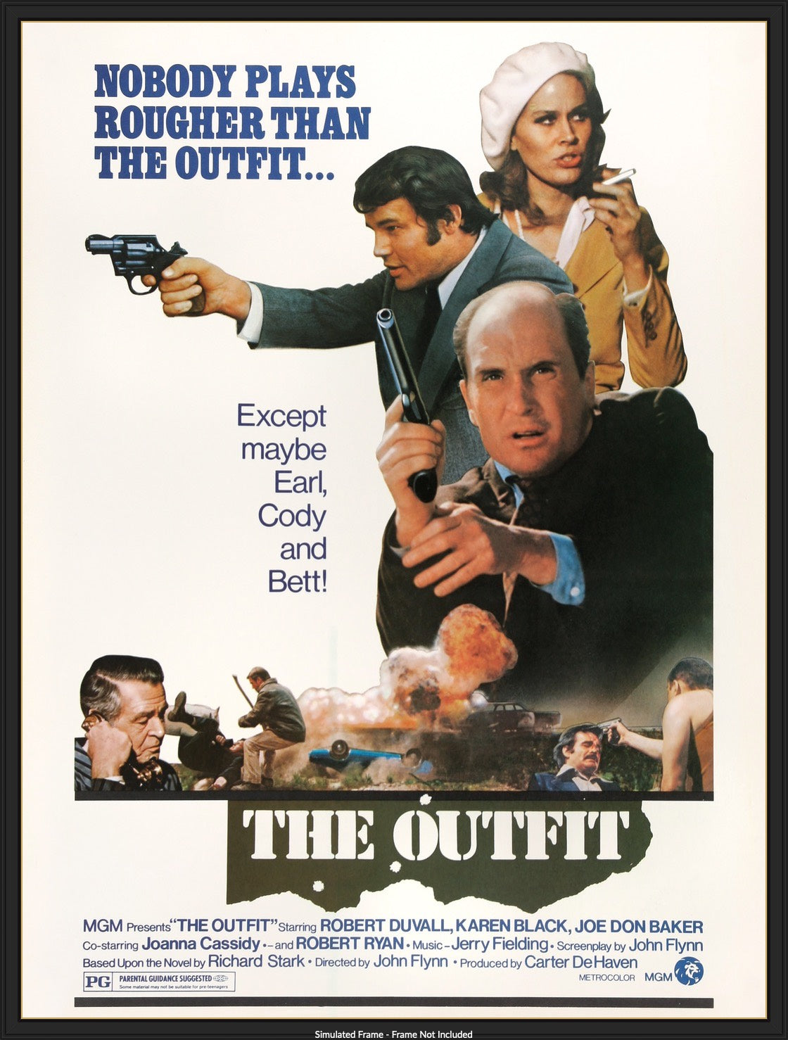 The Outfit (1973) Original Thirty by Forty Movie Poster - Original Film Art  - Vintage Movie Posters