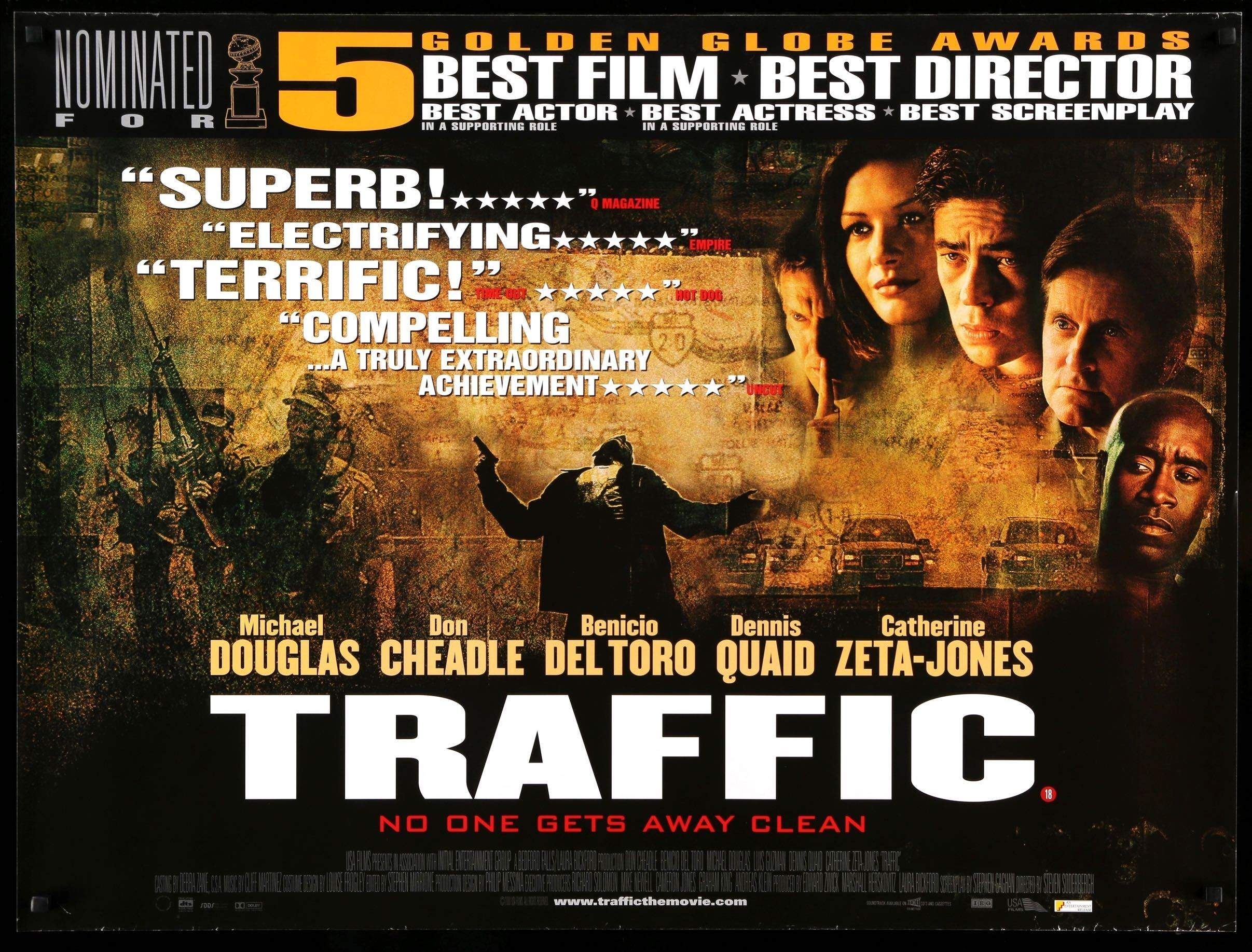 Traffic 2000 Original British Quad Movie Poster Original Film Art Vintage Movie Posters