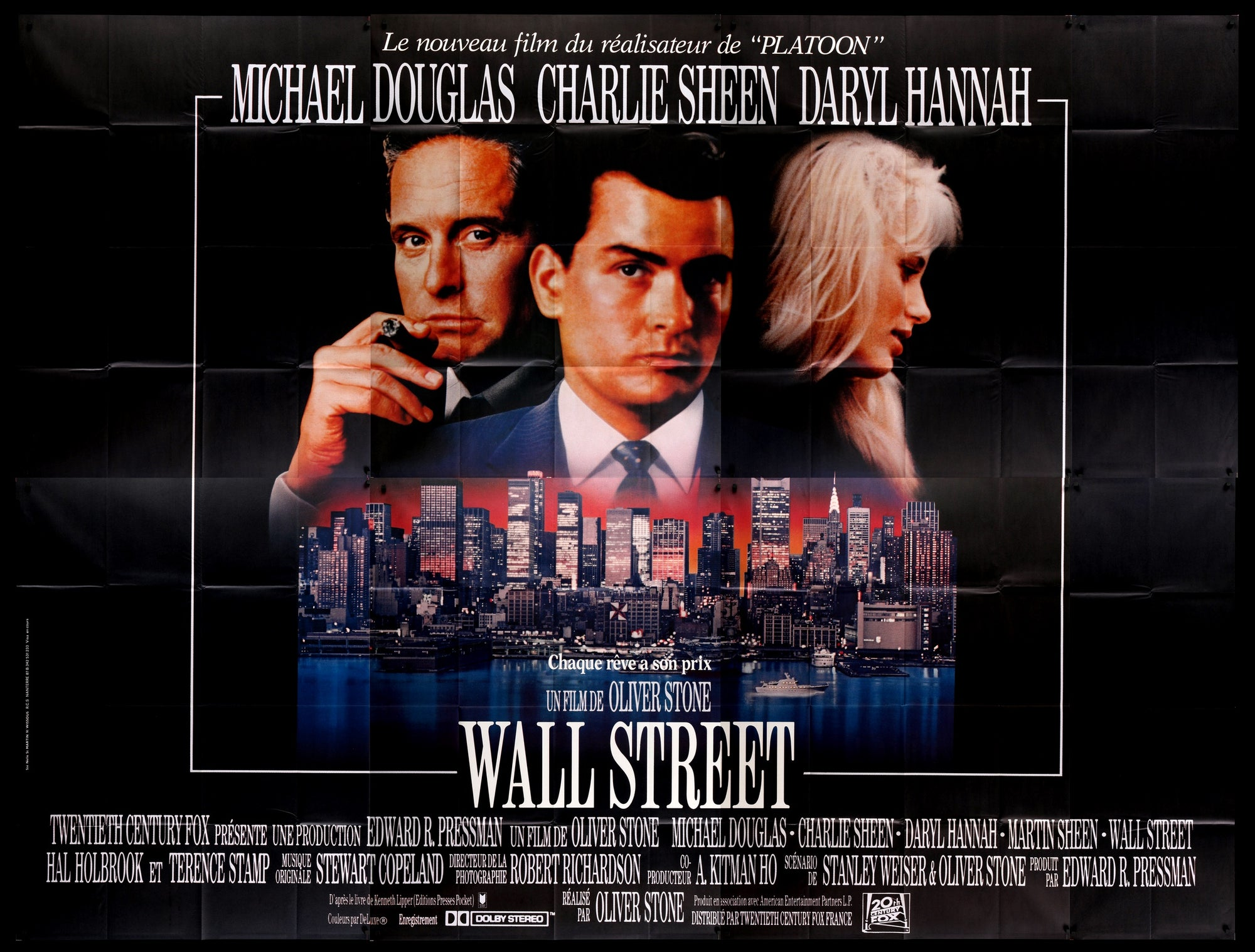 Wall Street (1987) Original French Movie Poster - Original Film ...