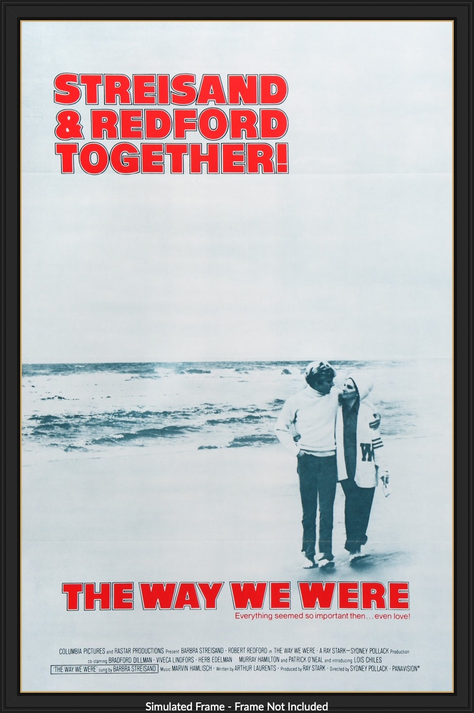 The way we were Robert Redford Vintage movie poster print