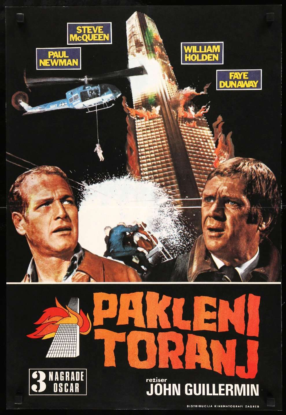 Towering Inferno McQueen and Newman Repro Film POSTER