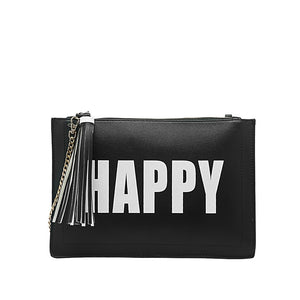 Happy Sad Flat Clutch - Fashionista Style