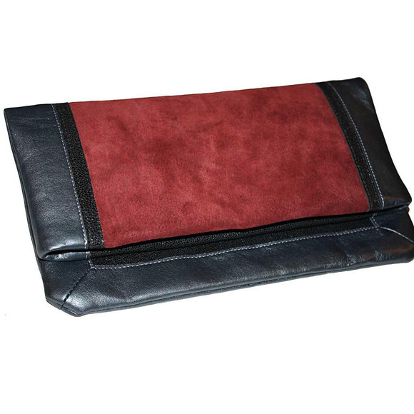 The Brooklyn Fold-Over Clutch - Berry - Fashionista Style