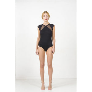 Mesh shoulder panel body - Fashionista Style
