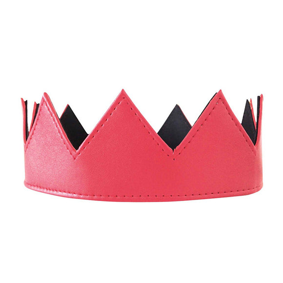 Red Leather Crown - Fashionista Style
