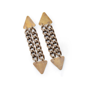 Triangles & Chains Earrings