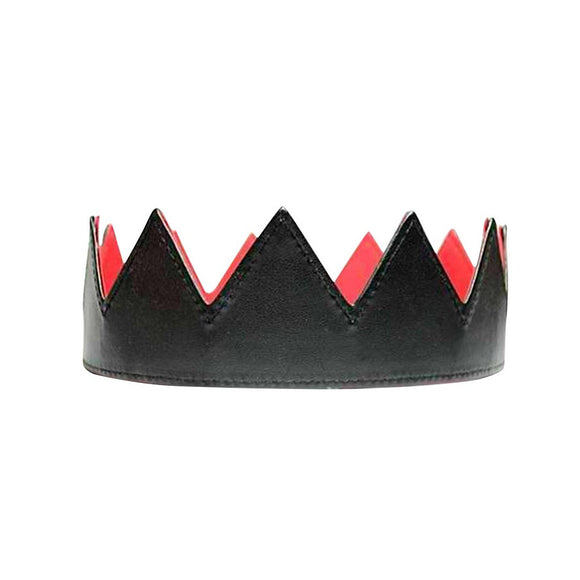Black Leather Crown - Fashionista Style