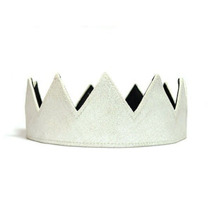 Silver Leather Crown - Fashionista Style