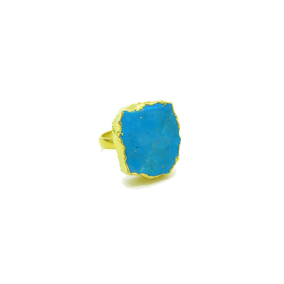 Raw Turquoise Ring - Fashionista Style