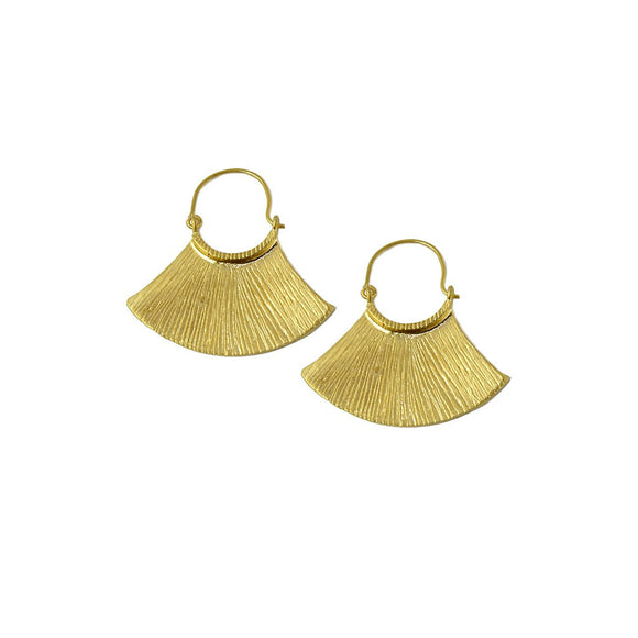 Mayan Gold Dangle Earrings - Fashionista Style