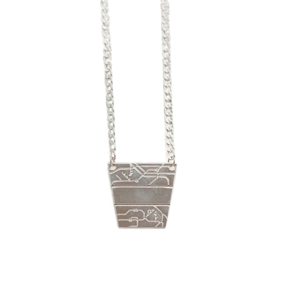 B-B Pyramid Necklace silver - Fashionista Style