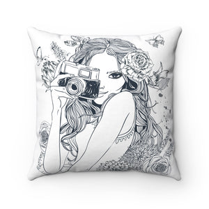 Camera Girl Pillow - Fashionista Style