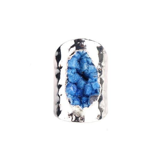 MAGNOLIA BLUE DRUZY RING