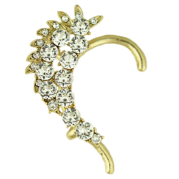 Crusted Crystal Ear Cuff - Fashionista Style