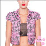 PINK WOOL JACKET - Fashionista Style