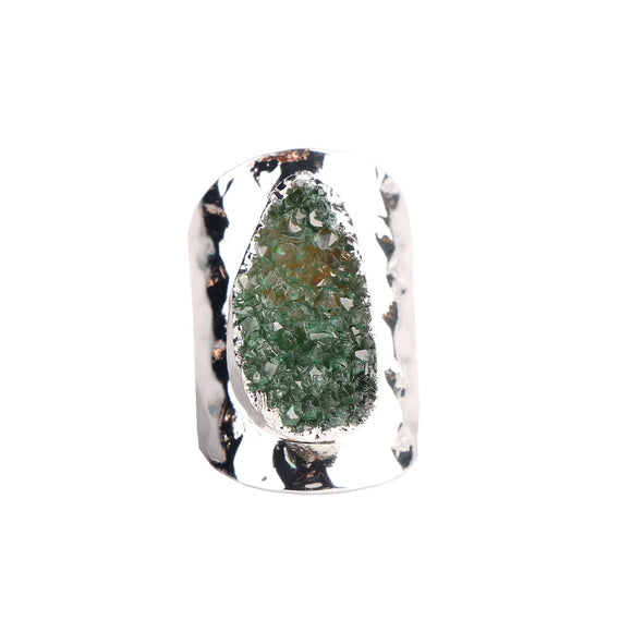 MAGNOLIA GREEN DRUZY RING