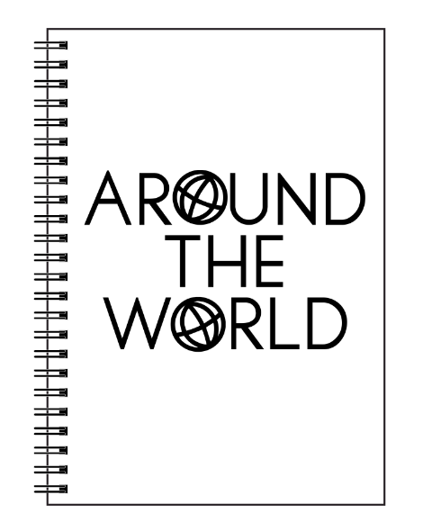 Around The World Spiral Notebook - Ruled Line - Fashionista Style
