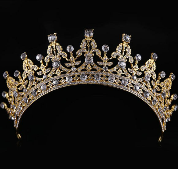 Crown Jewel Vintage Gold Tiara - Fashionista Style