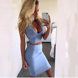 Curves Ahead Bandage Top & Skirt Set - Fashionista Style