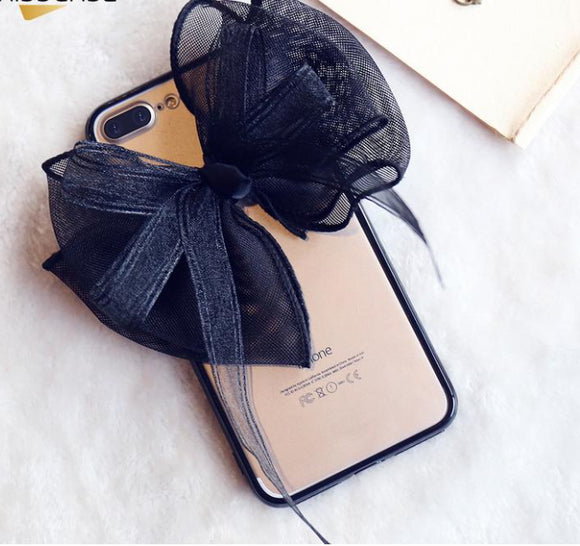I'm So Fancy Clear iPhone Case with Bow - Fashionista Style