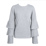 Bella Bell Sleeve Knit Sweater - Fashionista Style