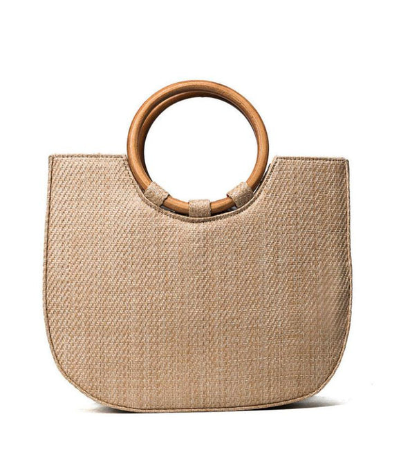 Into the Wild Bamboo Straw Tote