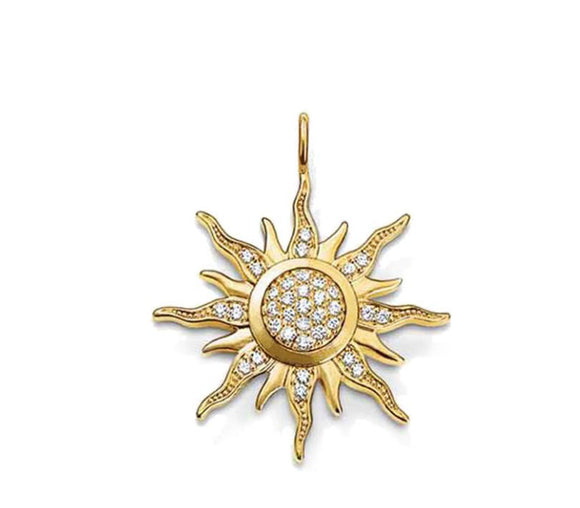 Little Miss Sunshine Golden Sun Necklace - Fashionista Style