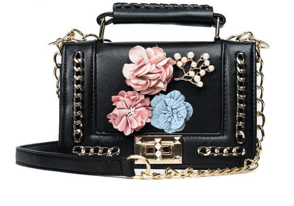 Midnight Dreamer Floral Crossbody Bag - Fashionista Style
