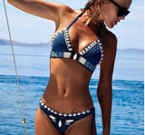 Sail The Seven Seas Handmade Shell Knitted Crochet Bikini Set - Fashionista Style