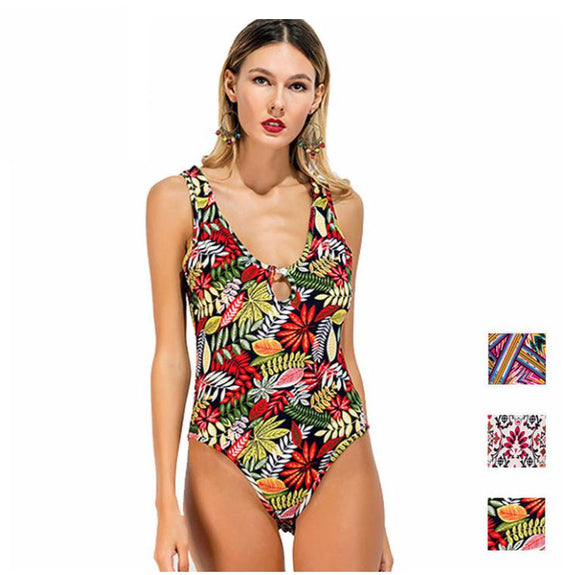 Tropical Punch Floral Print Bodysuit - Fashionista Style