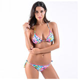 Tropical Vacation Floral Print Bikini Set - Fashionista Style