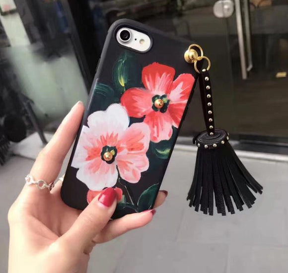 Wild About Flowers Floral iPhone 6 & 7 Tassel Case - Fashionista Style