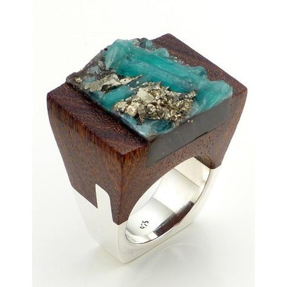Emerald Wood Ring