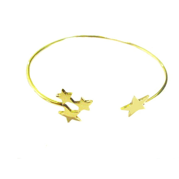 Faro Star gold plated bangle - Fashionista Style